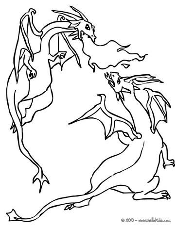 Drachenkampf zum ausmalen zum ausmalen - Dessin dragon simple ...