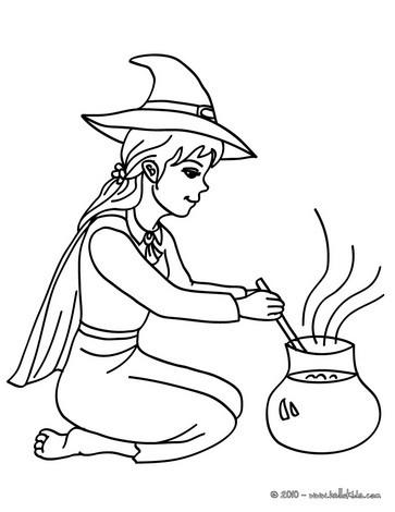 Halloween Hexe Zum Ausmalen Ausmalbilder Ausmalbilder Ausdrucken