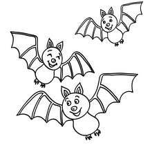 Fledermäuse fliegen zum Ausmalen