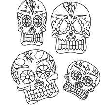 Mexikanische dekorierte Schädel zum Ausmalen