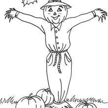 Halloween Vogelscheuche zum Ausmalen