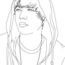 Justin Bieber Gesicht zum Ausmalen