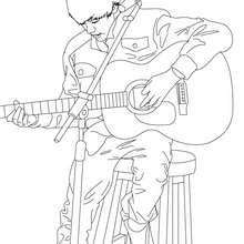 Justin Bieber spielt Gitarre zum Ausmalen