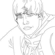 Justin Bieber Portrait zum Ausmalen