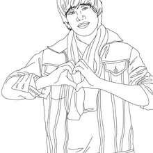 Justin Bieber Liebeszeichen zum Ausmalen