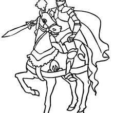 Sehr stolzer Ritter zum Ausmalen