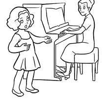 Musikunterricht zum Ausmalen