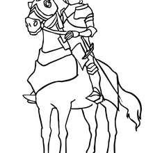 Ein Ritter in Rüstung zum Ausmalen