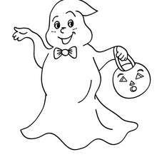 Halloween Gespenst zum Ausmalen