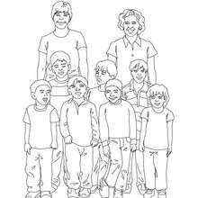 Vorschule Klassenfoto zum Ausmalen
