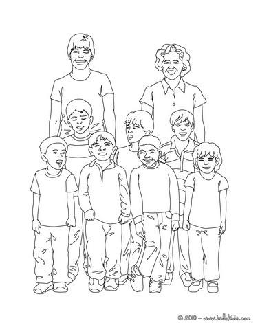 Vorschule klassenfoto zum ausmalen zum ausmalen de - Dessin classe ...
