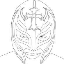 Wrestler Rey Misterio zum Ausmalen