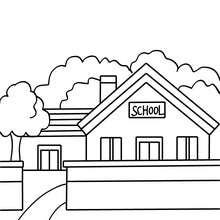 Schuleingang zum Ausmalen