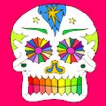 Skelett, MEXIKANISCHER TAG DER TOTEN zum Ausmalen