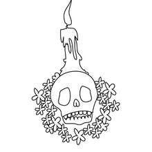 Totenkopf Kerzenständer