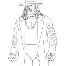 Wrestler Undertaker zum Ausmalen