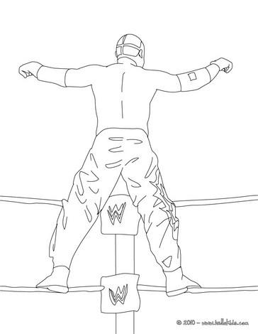 Wrestler steigt auf das ringseil zum ausmalen zum ausmalen - Coloriage wwe ...