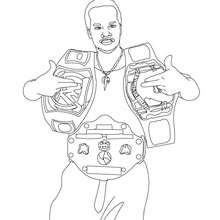 WWE Gewinner des goldenen Gürtels zum Ausmalen