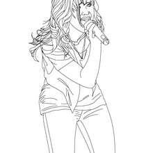 Demi Lovato singt zum Ausmalen
