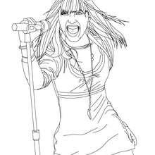 Demi Lovato auf der Bühne zum Ausmalen