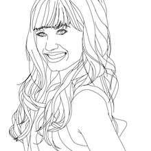 Demi Lovato lächelt Nahaufnahme zum Ausmalen
