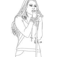 Miley Cyrus singt zum Ausmalen