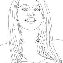 Miley Cyrus Nahaufnahme zum Ausmalen