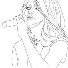 Selena Gomez singt Nahaufnahme zum Ausmalen