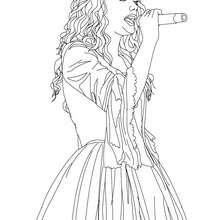 Taylor Swift singt Nahaufnahme zum Ausmalen