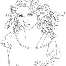 Schöne Taylor Swift Nahaufnahme zum Ausmalen