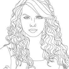 Taylor Swift Katzenaugen zum Ausmalen