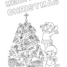 Weihnachtsgeschenk Poster zum Ausmalen