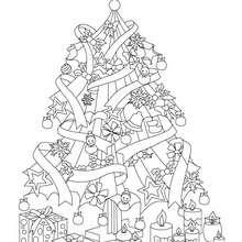 Glitzerner Weihnachtsbaum zum Ausmalen