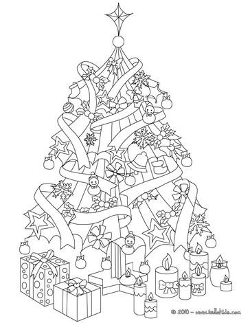 Weihnachtsbaum mit geschenken zum ausmalen