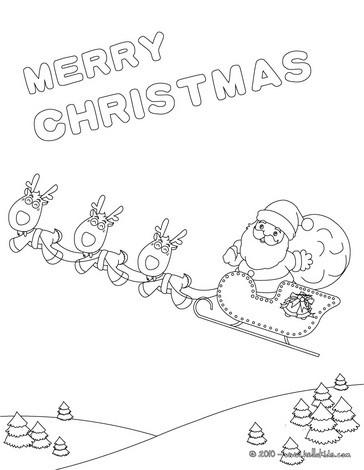 weihnachtsschlitten poster zum ausmalen zum ausmalen. Black Bedroom Furniture Sets. Home Design Ideas