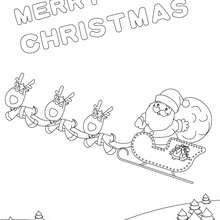 Weihnachtsschlitten Poster zum Ausmalen