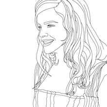 Emma Watson glücklich Nahaufnahme zum Ausmalen