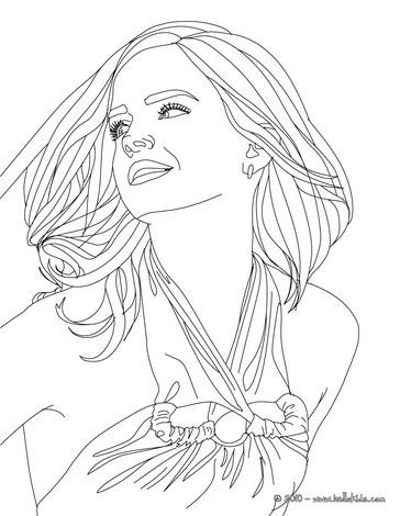 Emma Watson Nahaufnahme Zum Ausmalen Zum Ausmalen De