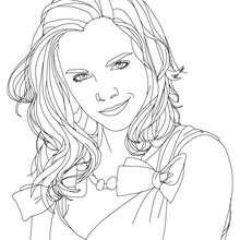 Emma Watson lächelt Nahaufnahme zum Ausmalen