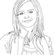 Emma Watson kurzhaarig Nahaufnahme zum Ausmalen