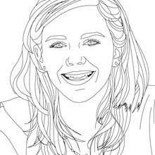 Emma Watson lacht Nahaufnahme zum Ausmalen