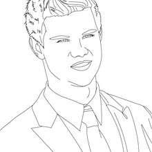 Taylor Lautner lächelt Nahaufnahme zum Ausmalen