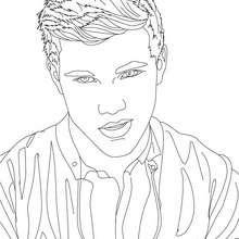 Taylor Lautner nachdenklich Nahaufnahme zum Ausmalen