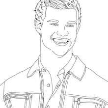 Taylor Lautner schöne Nahaufnahme zum Ausmalen