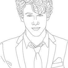 Nick Jonas mit Krawatte zum Ausmalen