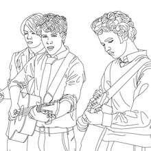 Jonas Brothers spielen Gitarre zum Ausmalen