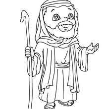 Heiliger Joseph zum Ausmalen