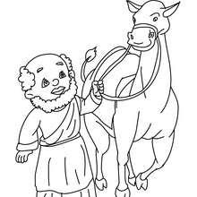 Balthasar mit seinem Kamel zum Ausmalen