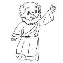 Balthasar stehend zum Ausmalen