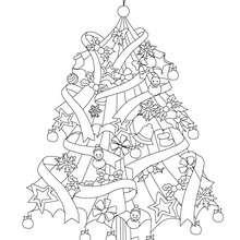 Weihnachtsbaum zum Ausmalen